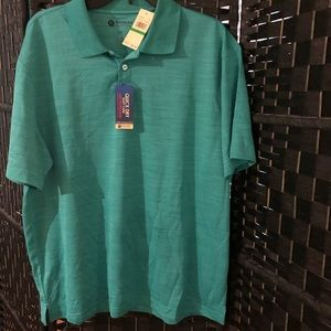Nwt new Haggar men's high performance shirt large